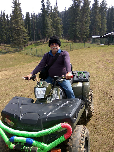 atv gulmarg hillside kashmir india