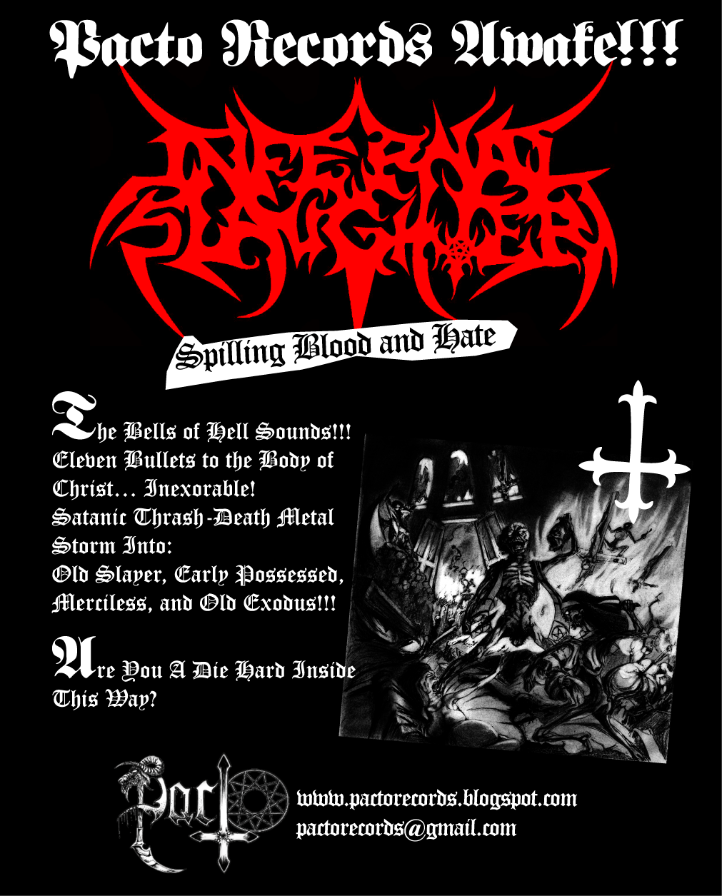 Infernal Slaughter – Spilling Blood and Hate (2015) | Extreme