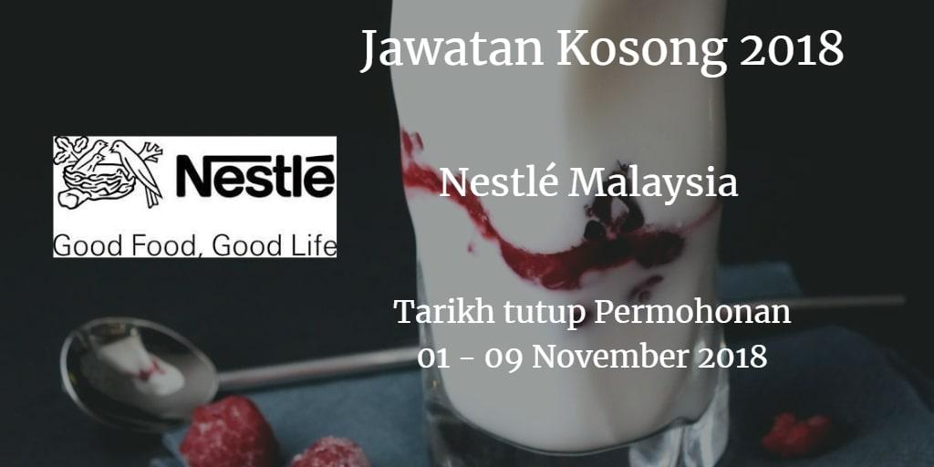 Jawatan Kosong Nestlé Malaysia 01 - 09 November 2018