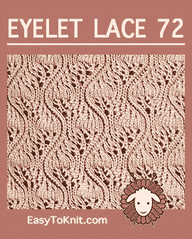 #Knit Eyelet Lace Pattern