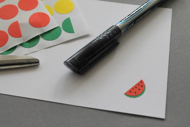 DIY Melonen Postkarte Kids Craft Jules kleines Freundenhaus