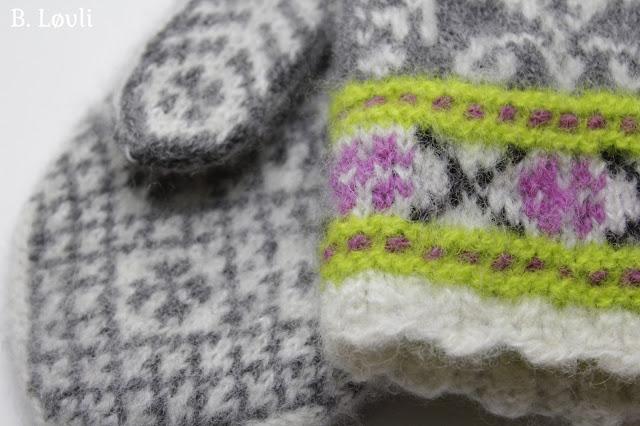 strikkeoppskrift på tova votter