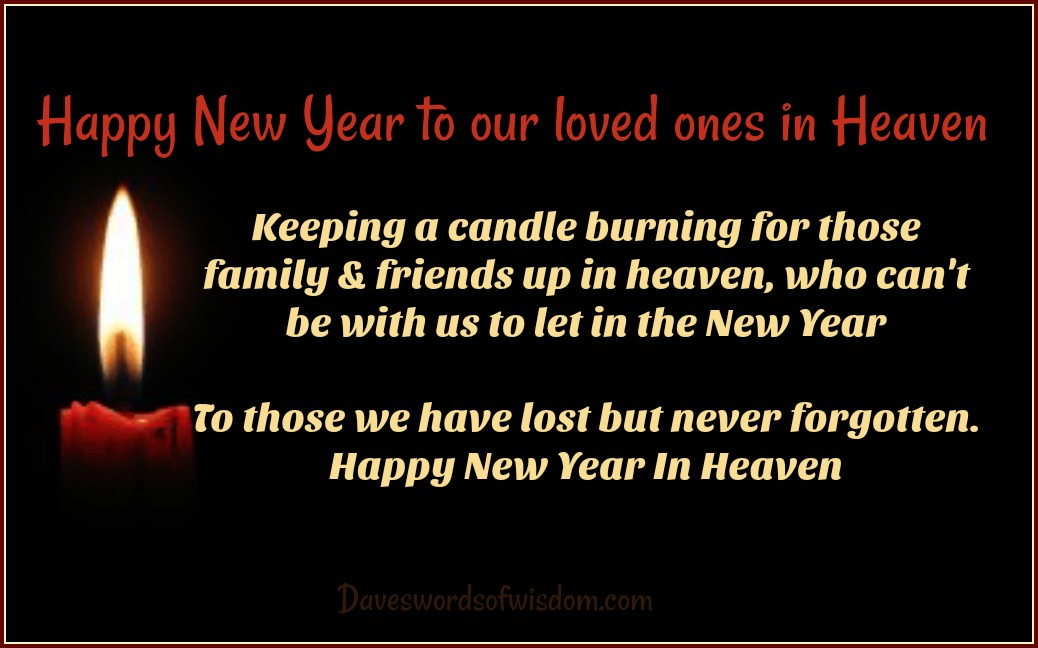 Daveswordsofwisdom.com: Happy New Year to our loved ones ...
