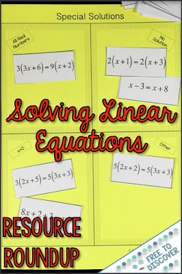 I'd like to highlight some fun resources for solving linear equations that you might enjoy in your classroom.