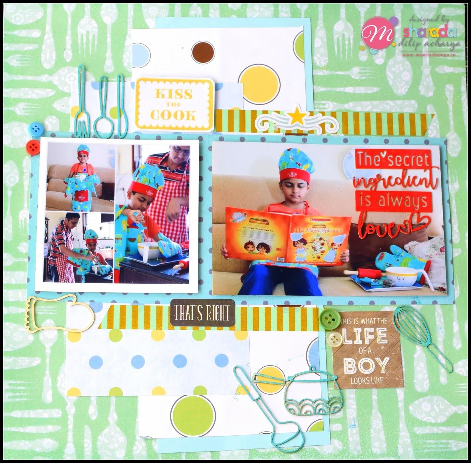 Mudra Craft Stamps Scrapbook Layouts Explosion Box Super Kid