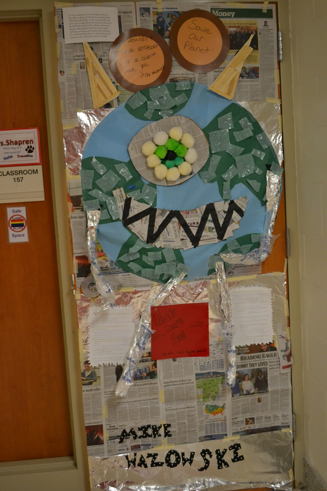 Owen J Roberts News Earth Day Door Contest