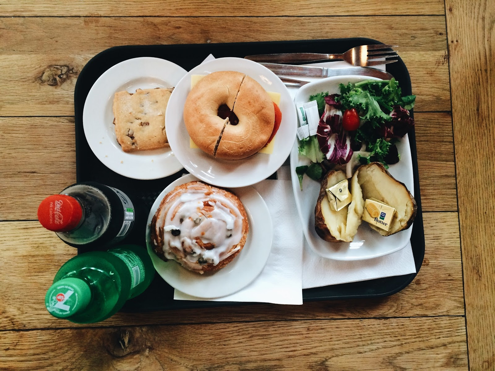 bagel and jacket potato lunch in Windsor, England