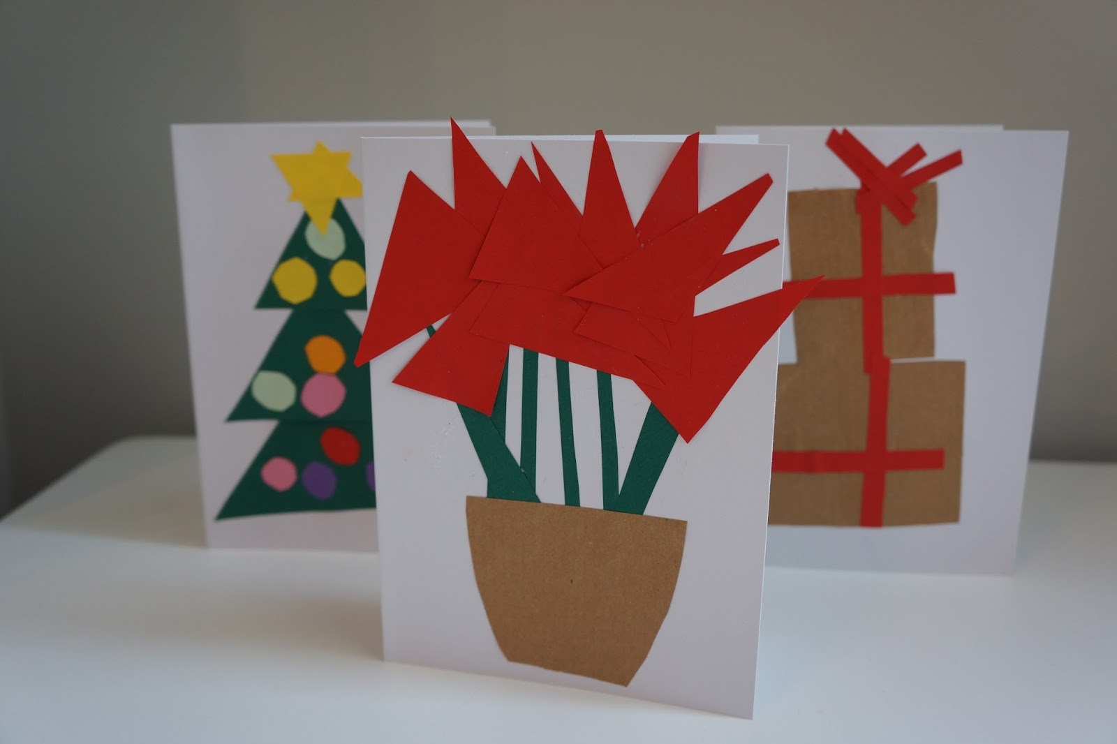 poinsettia card paper craft