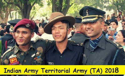 Territorial Army (TA) Notification 2018- 2019