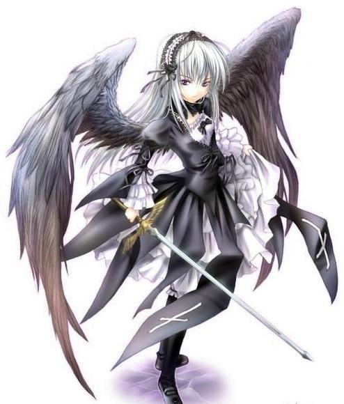 Girl anime dark angel
