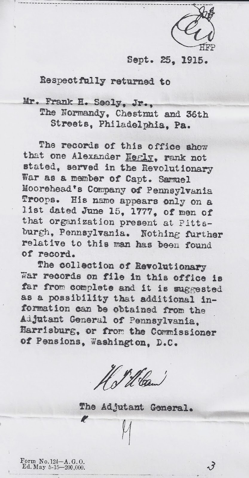 All About Family: 52 Ancestors # 26 Alexander Negley