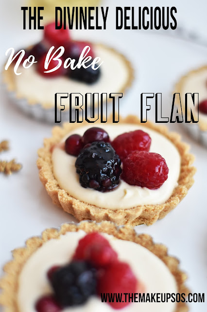 No Bake Fruit Flan