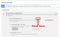 2 step verification in facebook