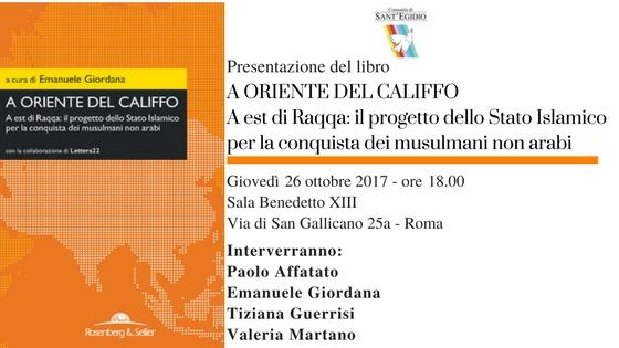 Il Califfo asiatico a Roma giovedi 26 ottobre alle 18