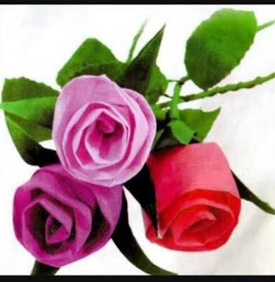 Cara Mudah Membuat Bunga Dari Kertas Krep kecil sederhana