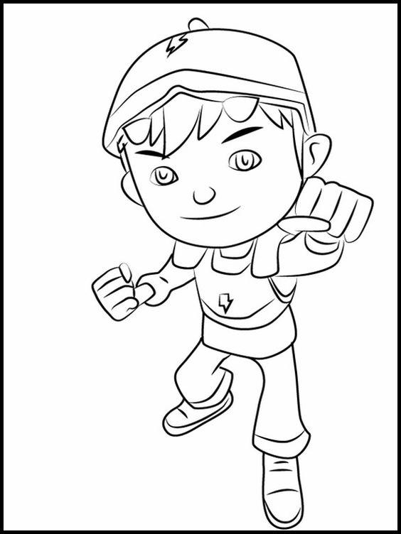Tranh cho bé tô màu BoBoiBoy 13