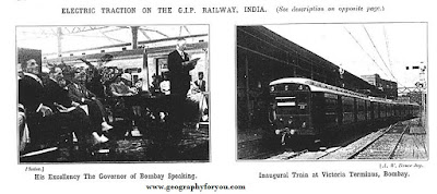 First Electric train was run in India