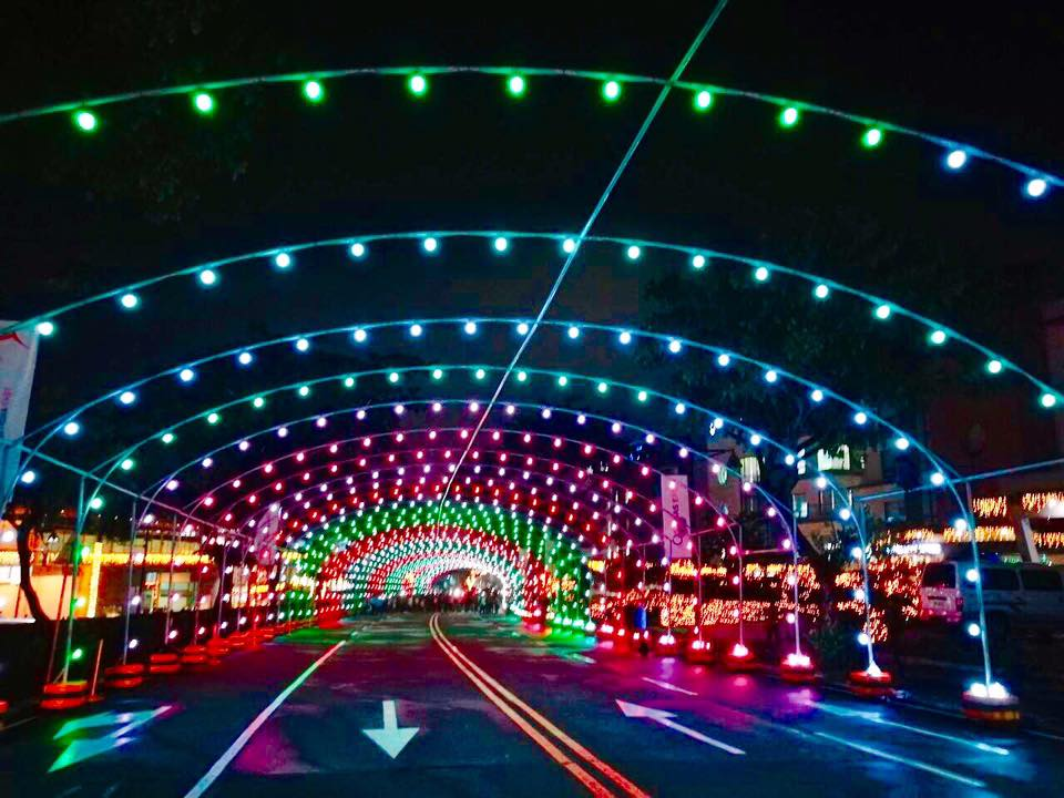 the first christmas street light musical tunnel in the philippines now dancing at tiendesitas ortigas east - When Was The First Christmas