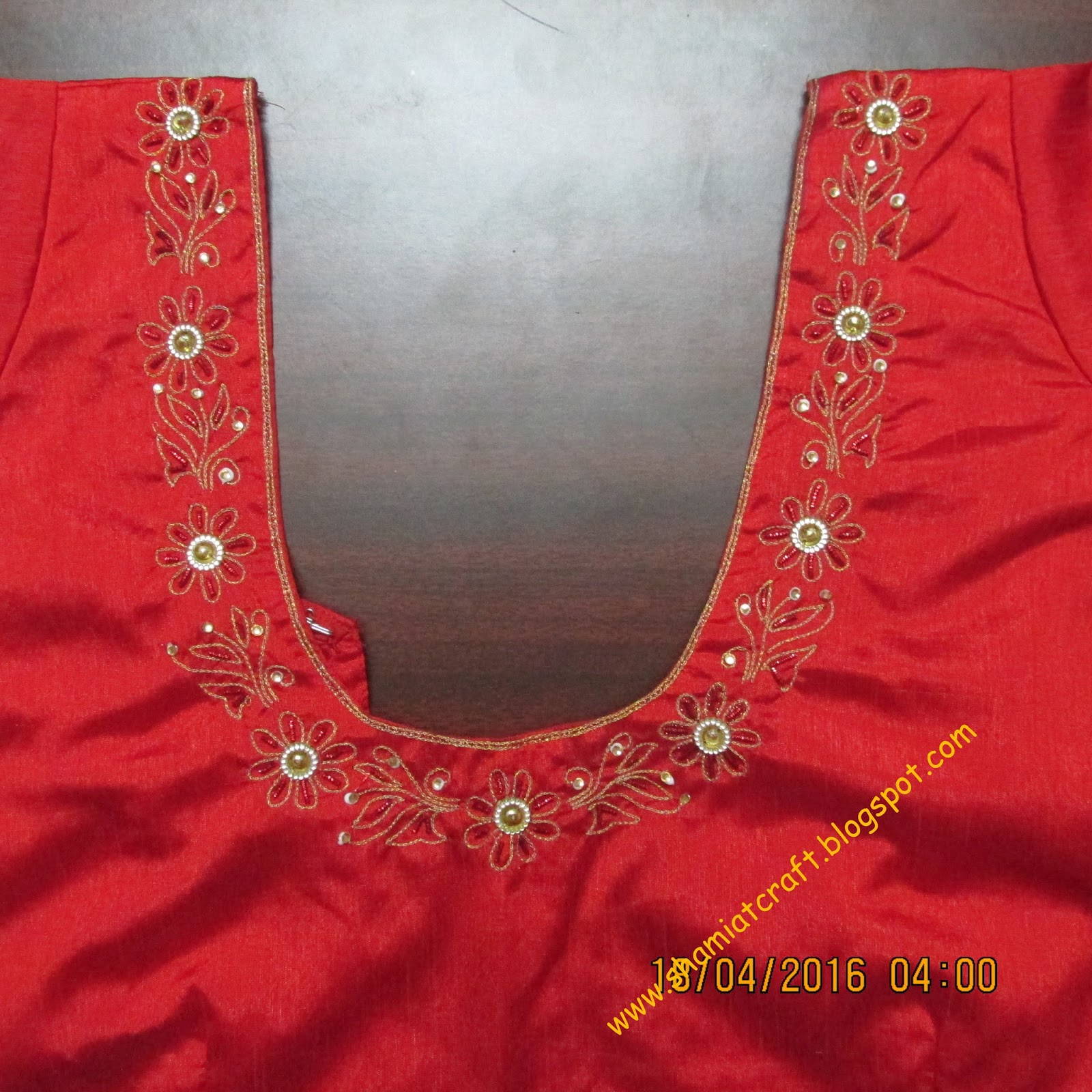 My Craft Works Aari Embroidery Blouse And Tatting