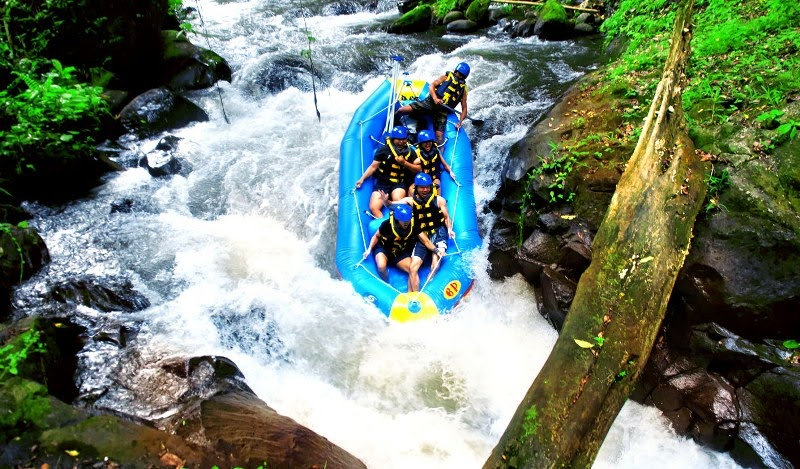 rute Rafting Bali