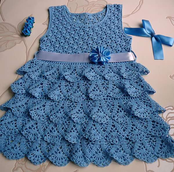 ... dress is an elegance in this work in crochet yarn patterns with graph
