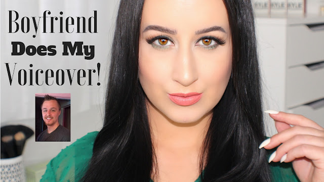 Boyfriend Does My Voice Over! | Fall Olive Green Makeup Tutorial