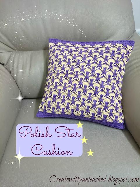 Crochet Polish star cushion