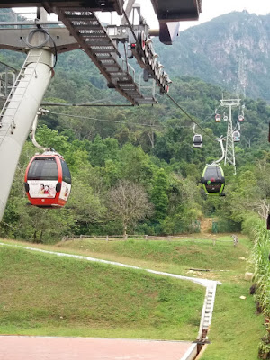 Photo of the cable car in Oriental Village, Langkawi Island, also called Sky Cab