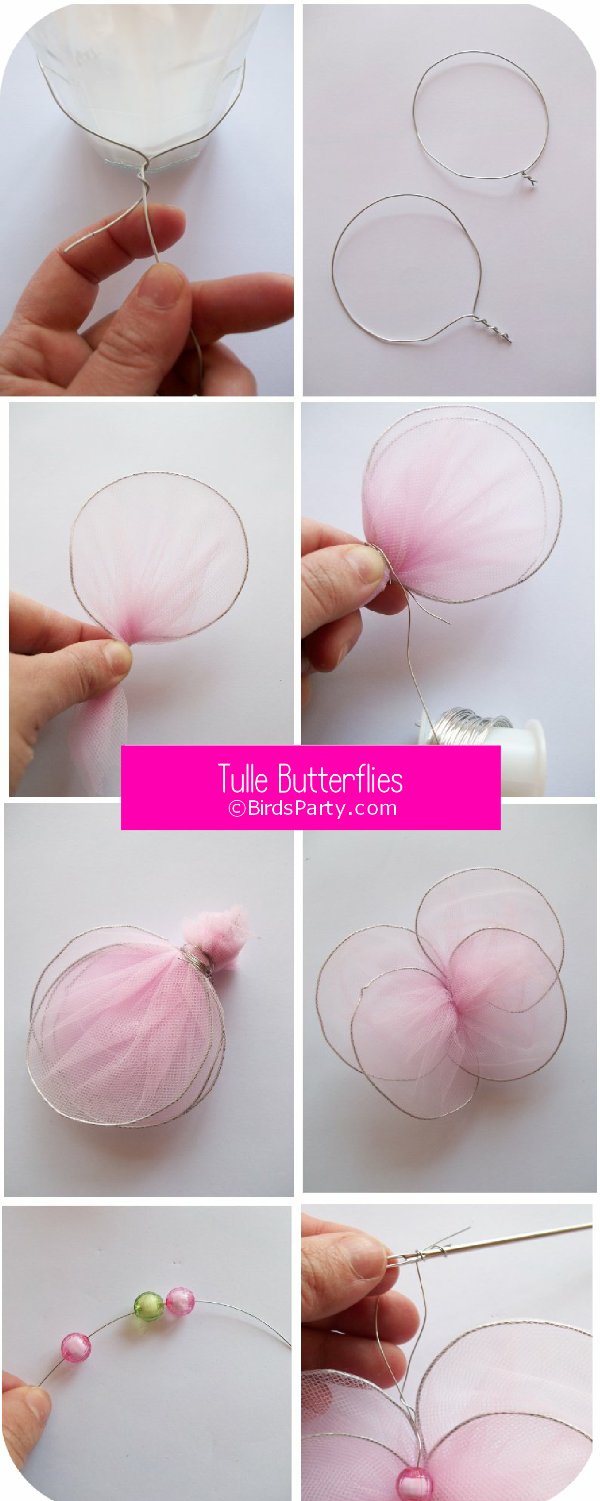 DIY New-Sew Tulle Butterflies Tutorial - BirdsParty.com