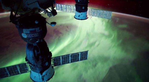 Un timelapse de snfonía de luz desde la Estación Espacial Internacional