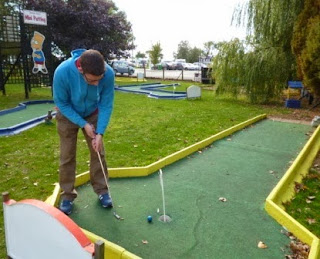 Mini-Putting Crazy Golf course at Stonham Barns