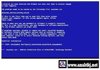 Penyebab Dan Cara Mengatasi Blue Screen (Layar Biru) Pada Komputer