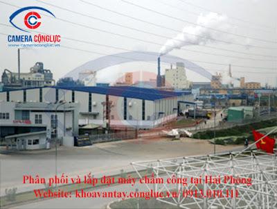 Lắp đặt máy chấm công chính hãng tại khu công nghiệp Đình Vũ - Hải Phòng.