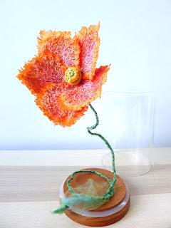 Papaver naudicaule fleur brodée piqué libre Bidulafil