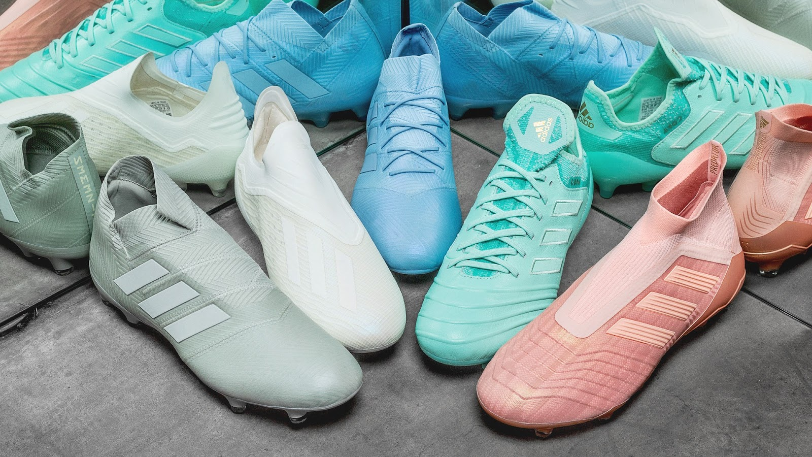 5664efe24 A new Adidas football boot collection, the Spectral Mode pack, has been  released today. The Adidas Spectral Mode pack includes pale new colorways  for all ...