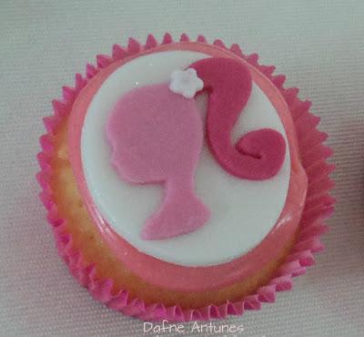 cupcake perfil da Barbie