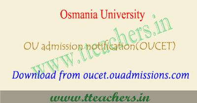 OUCET notification 2018, online application form, apply last date