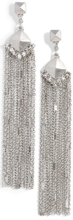Treausre & Bond Fringe Statement Drop Earrings