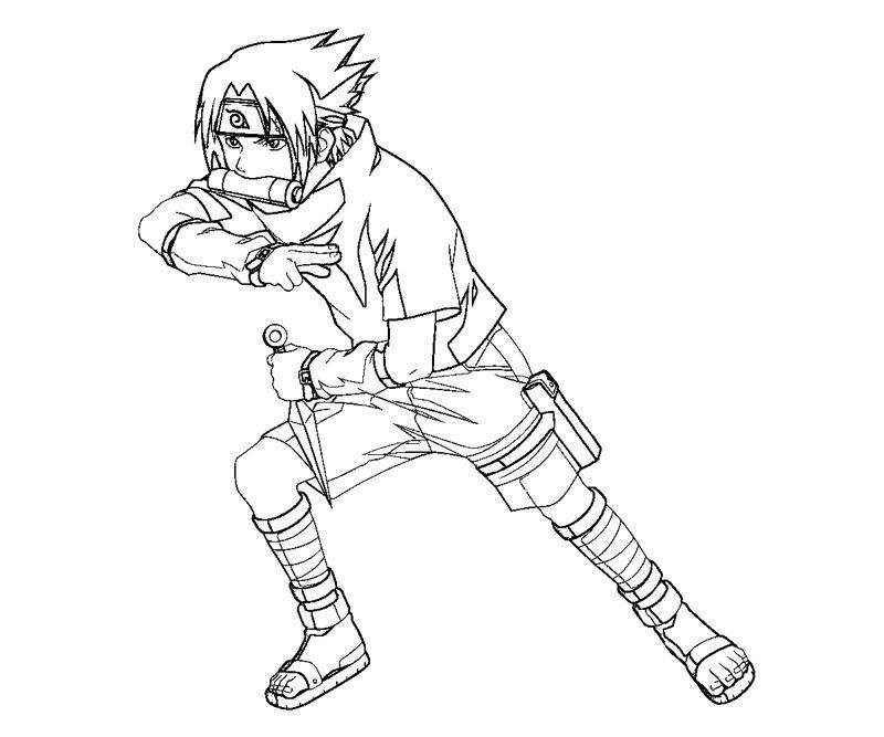 sasuke uchiha coloring pages - photo#2
