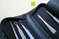 Enden: Mittesserentferner Set, 5 Tools, entfernen Mitesser und Hautunreinheiten, aus Edelstahl, Professionell, Behandlung gegen Mitesser, Akne und Pickel