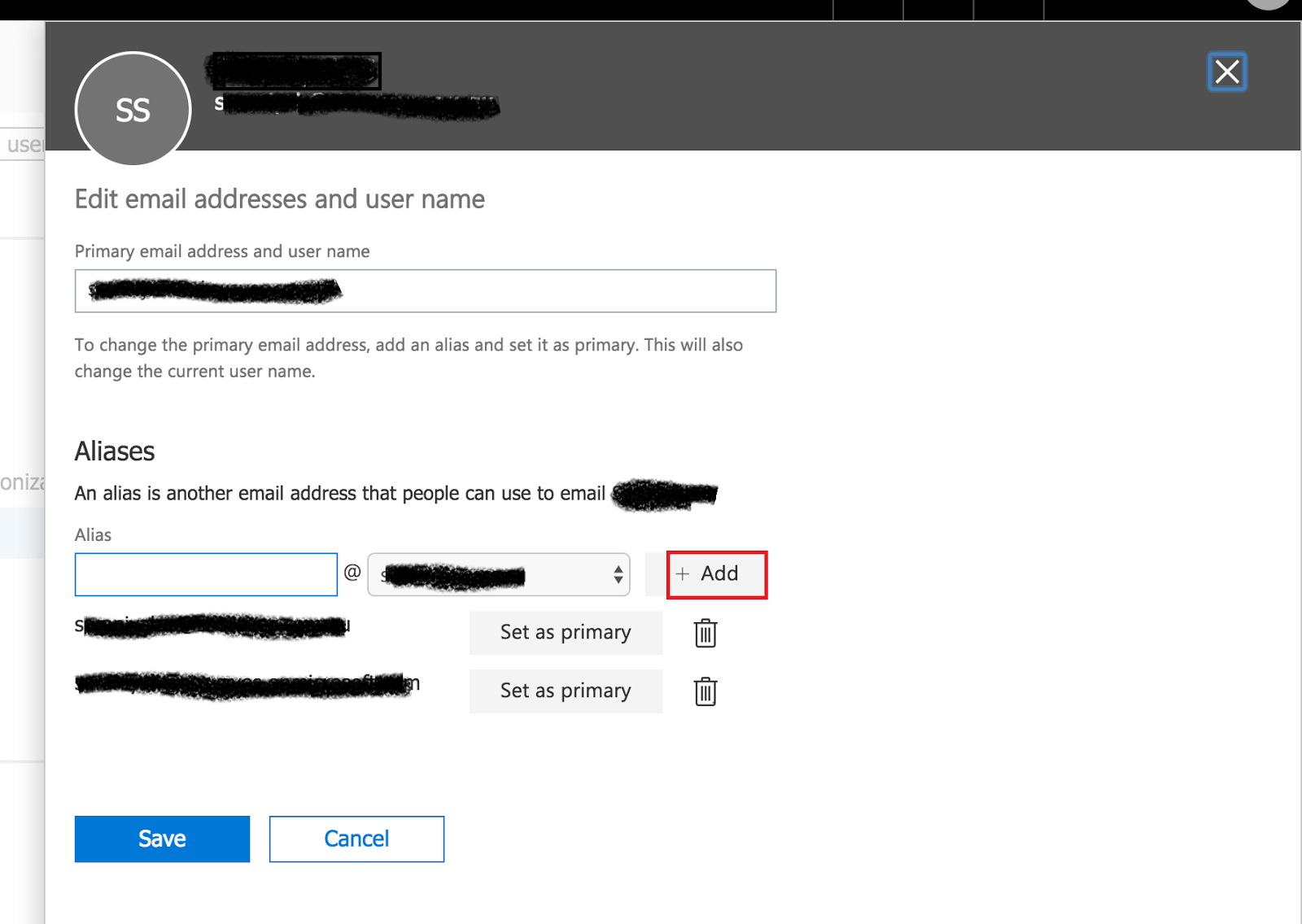 Faceit Create New Alias On Office Cloud Mail 365