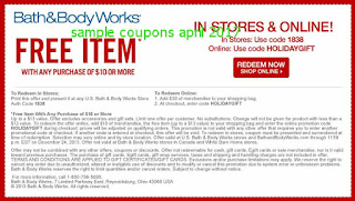 free Bath And Body Works coupons for april 2017