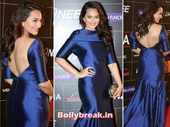 Sonakshi Sinha, Bollywood Actresses Backless Gowns Photos on Red Carpet
