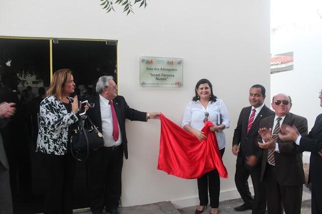 Foi inaugurada ontem a sala da OAB em Marcelino Vieira - RN
