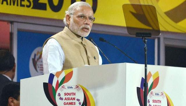 Prime Minister Narendra Modi declares 12th South Asian Games open in colourful ceremony