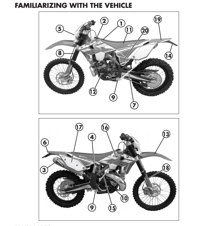 Motos de Enduro: Descarga de manual de usuario de Beta RR
