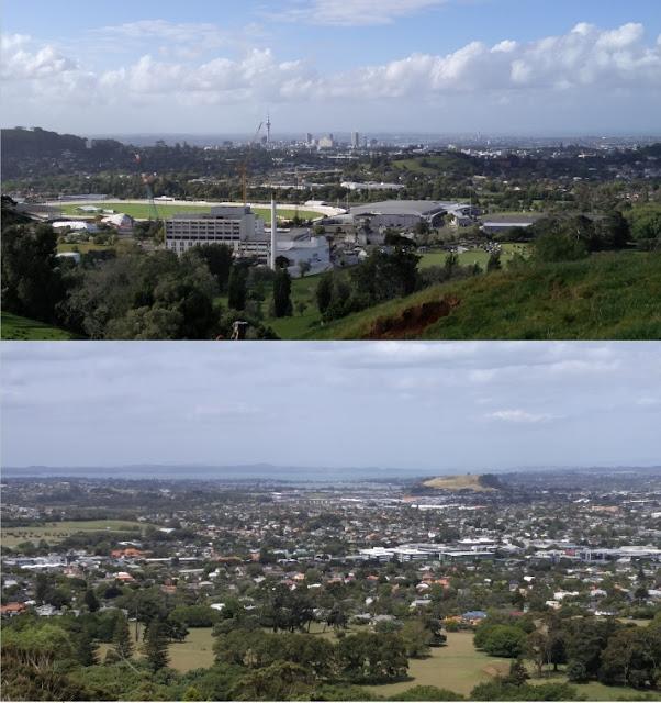 Photos de vues sur Auckland et Manukau Harbor de One Tree Hill Auckland Nouvelle-Zélande