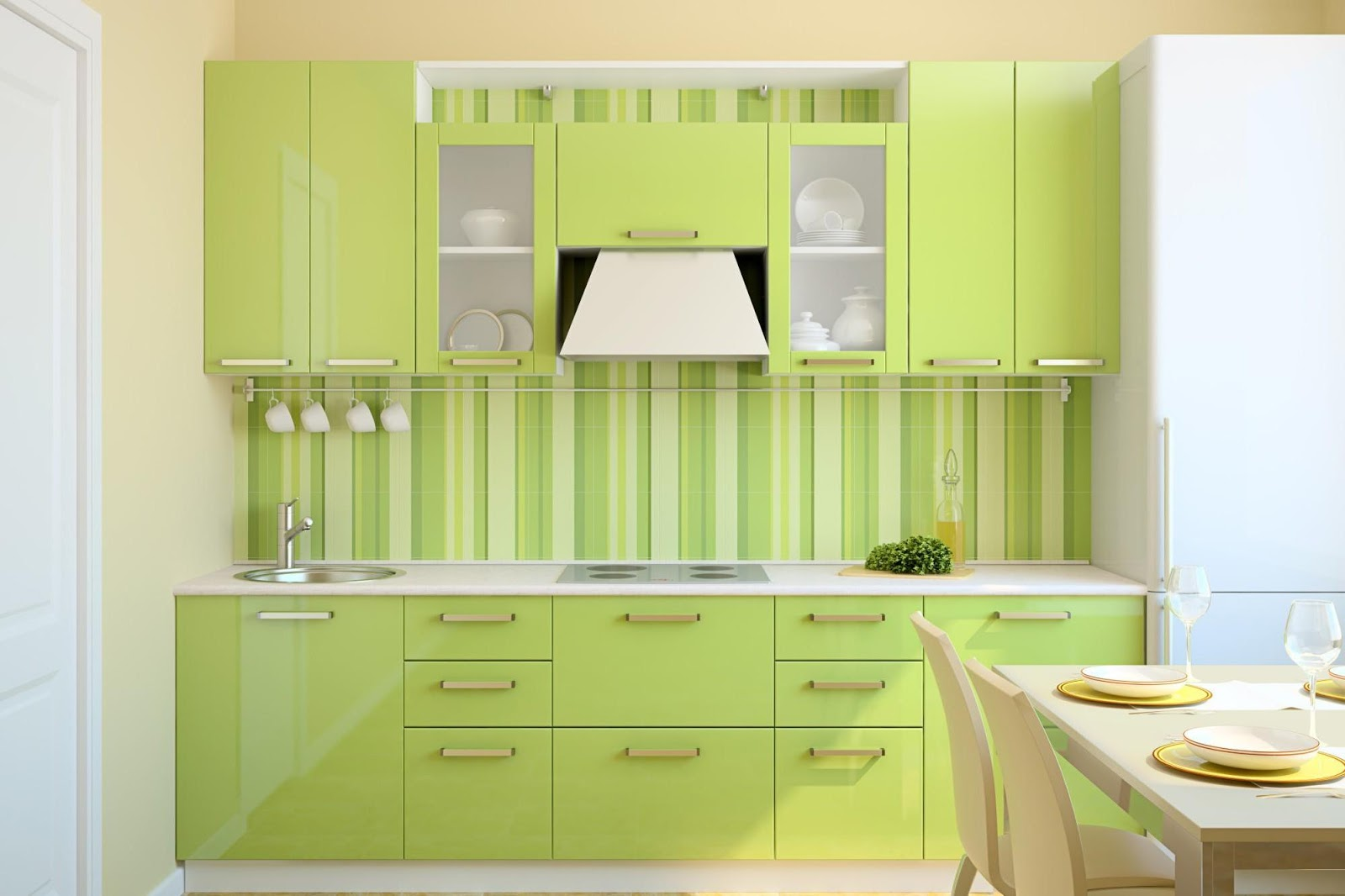 24+ Tips Model Keramik Dapur Warna Hijau Terkini   Rumah ...