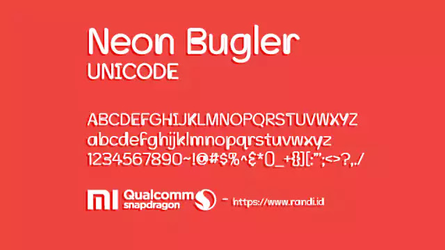 Unicode Font Neon Bugler Unicode for MIUI