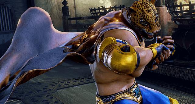 King adalah karakter yang menggunakan topeng macan